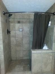 Shower Curtains For Glass Showers Shower Curtain Door Ideas Gopelling Net