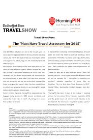 New York Times Travel by The New York Times Travel Show U2013 U201cspells The End Of Lost Luggage