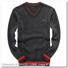 wholesale sweaters image wholesale discount gucci sweater v neck gray color