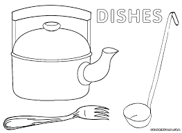 spoon drawings colouring pages sketch template vector of a