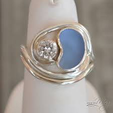 sea glass engagement rings the arabian 1 sea glass engagement ring ring ideas