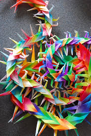 monthly diy paper cranes chains citizen erased photography