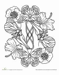 butterfly mandala worksheet education com