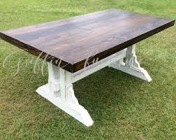 Wood Kitchen Table With Bench And Chairs Farmhouse Table Etsy