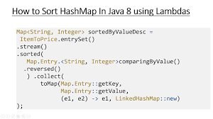 tutorial linux sort how to sort map by values in java 8 using lambdas and stream java