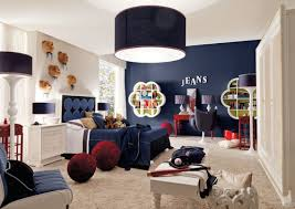 Kids Room Lighting Fixtures by Light Fixture And Dark Navy Wall With And Navy Drum Shade Light