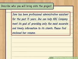 How To Write A Resume For A Retail Job by How To Write A Business Proposal With Pictures Wikihow