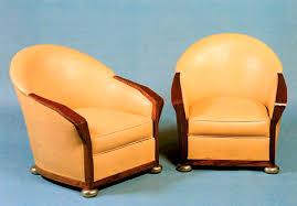 Art Deco Armchair Art Deco Armchair Fabric Leather By Pierre Chareau Ach 032