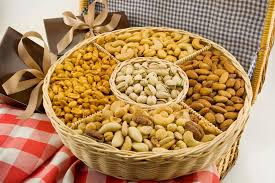 fruit and nut baskets five section nut gift basket nut gift baskets free shipping