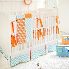 orange chevron crib skirt decoration ideas 4806