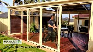 Patio Bi Folding Doors by Pvc Bi Fold Opti Screens Are Not A Cafe Or Bistro Blind Youtube