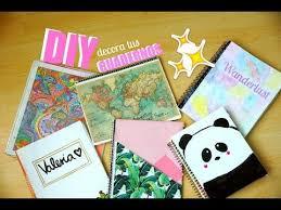 como forrar un cuaderno con tela youtube diy 6 ideas fáciles para decorar tus cuadernos youtube