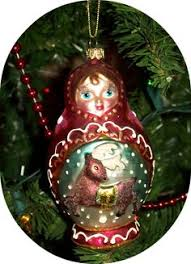 nesting doll ornament in my collection from a set of 3 russian