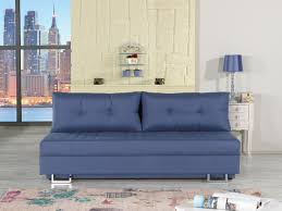 flex motion blue queen sofa bed w storage by casamode