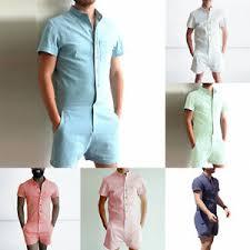 mens one jumpsuit stylish sleeve shirts romper one shorts