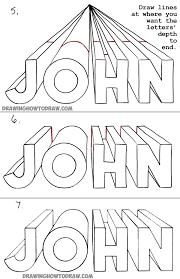 drawing 3d letters with one point perspective tutorial for kids