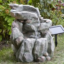 Rock Water Features For The Garden Fall Solar Garden Water Feature