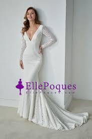 wedding dress open back 2018 v neck sleeves mermaid lace wedding dresses open