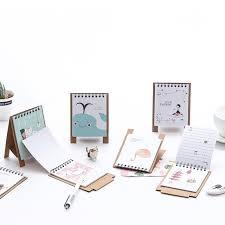 mini desk calendar 2017 2018 cute little fresh cartoon animals series mini table calendars