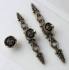 Kitchen Cabinet Door Pulls Rose Knob Handle Dresser Drawer Pulls Handles Antique Bronze