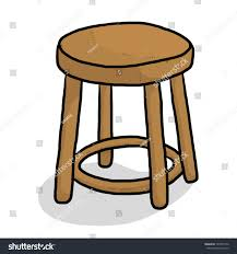 Wooden Chair Wooden Chair Cartoon Vector Illustration Isolated Stock Vector
