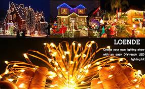 amazon com loende 33ft 100 led string lights dimmable cooper