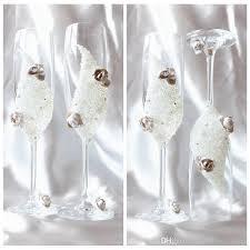 luxury crystal shell wine glasses beach wedding decors handmade