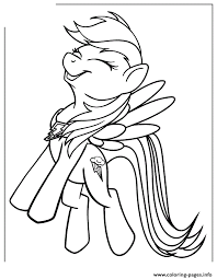 pony rainbow dash coloring pages printable free