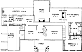 colonial floor plans impressive southern colonial 3118d architectural designs