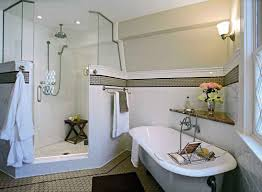 edwardian bathroom ideas art deco bathroom design with standing shower and flower decor
