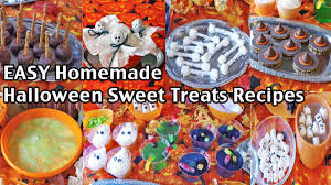 Halloween Treats And Snacks Easy Homemade Halloween Party Food Recipes And Ideas Sweet
