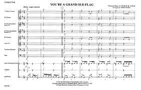 Flute Flag You U0027re A Grand Old Flag By Burns J J W Pepper Sheet Music