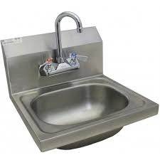 wall mount stainless steel sink stainless steel wall mount hand sink w no lead faucet and strainer