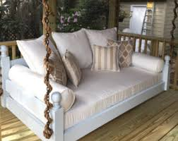 Swinging Bed Frame Porch Swing Etsy