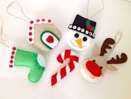 Felt Christmas Stocking Tree Decoration by 93 Best Cute Christmas Tree Decorations Images On Pinterest