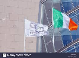 Flag Of Dublin Ireland The New Convention Centre Dublin Ireland Flag Flying Alongside The
