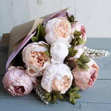 peony flowers blush peony faux flower bouquet by halfpennie