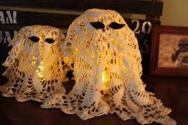 Vintage Owl Lights by Green Owl Art Sweet Vintage Doily Ghost