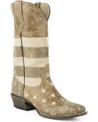 British Flag Boots Roper Men U0027s Brown Vintage American Flag Western Boots Square Toe