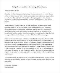 recommendation letter for advanced academic program cover letter