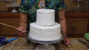 how to make a wedding cake base two tier cake cake decorating