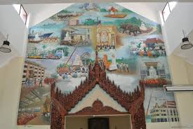 mv dhamma fellowship s temple visits rekindle historical ties with murals on the wall depict the epoch of the 11 feet 10 tons marble image of