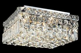 Crystal Ceiling Mount Light Fixture by Lighting 2032f12c Ec Crystal Maxime Square Flush Mount Ceiling Fixture