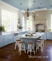 White Blue Kitchen Beautiful Blue Kitchen In Arkansas Traditional Home