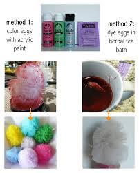 make tea dyed u0026 painted tulle eggs