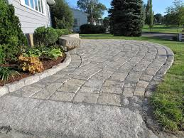 Granite Patio Pavers Reclaimed Granite Pavers And Cobblestone Edging Were Used In This