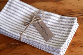 ticking cloth napkins large size dinner napkins