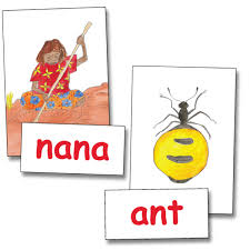 words cards 10 colour picture cards and 10 matching big words honey ant