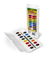 crayola semi moist education watercolors in 16 colors with paint