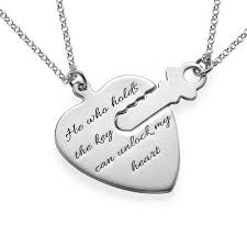 engraving necklaces key to my heart necklaces with engraving